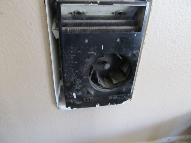 Cadet wall heater with cover removed