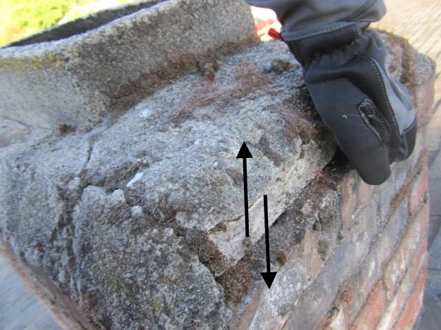Loose mortar chimney cap