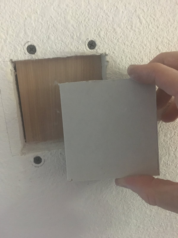 Fitting a replacement piece of drywall