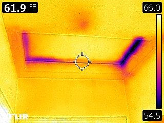 Thermal image of attic hatch