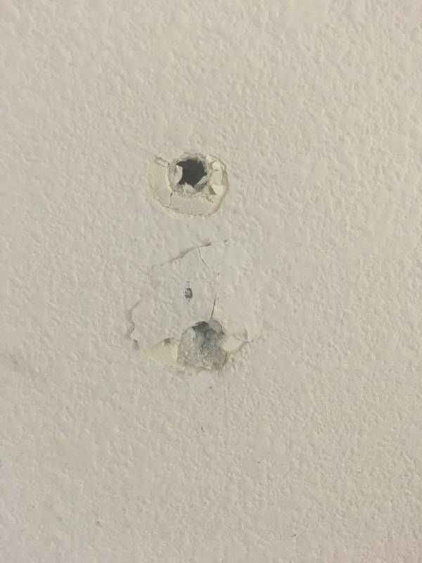 Holes in drywall
