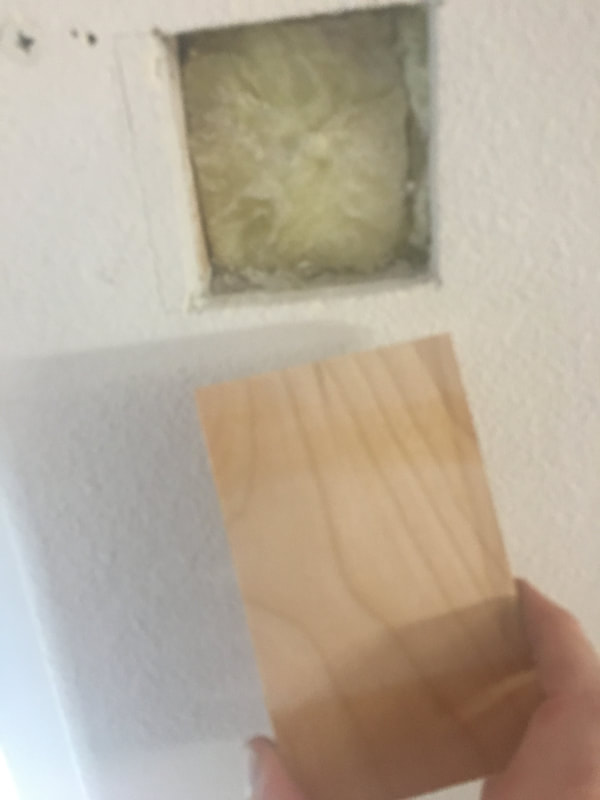 Backer wood for drywall hole