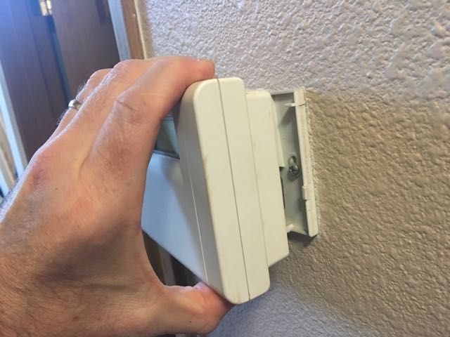 Removing a wall thermostat